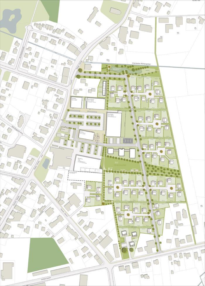 Städtebaulicher Rahmenplan und Entwurf, Gemeinde Ahlerstedt