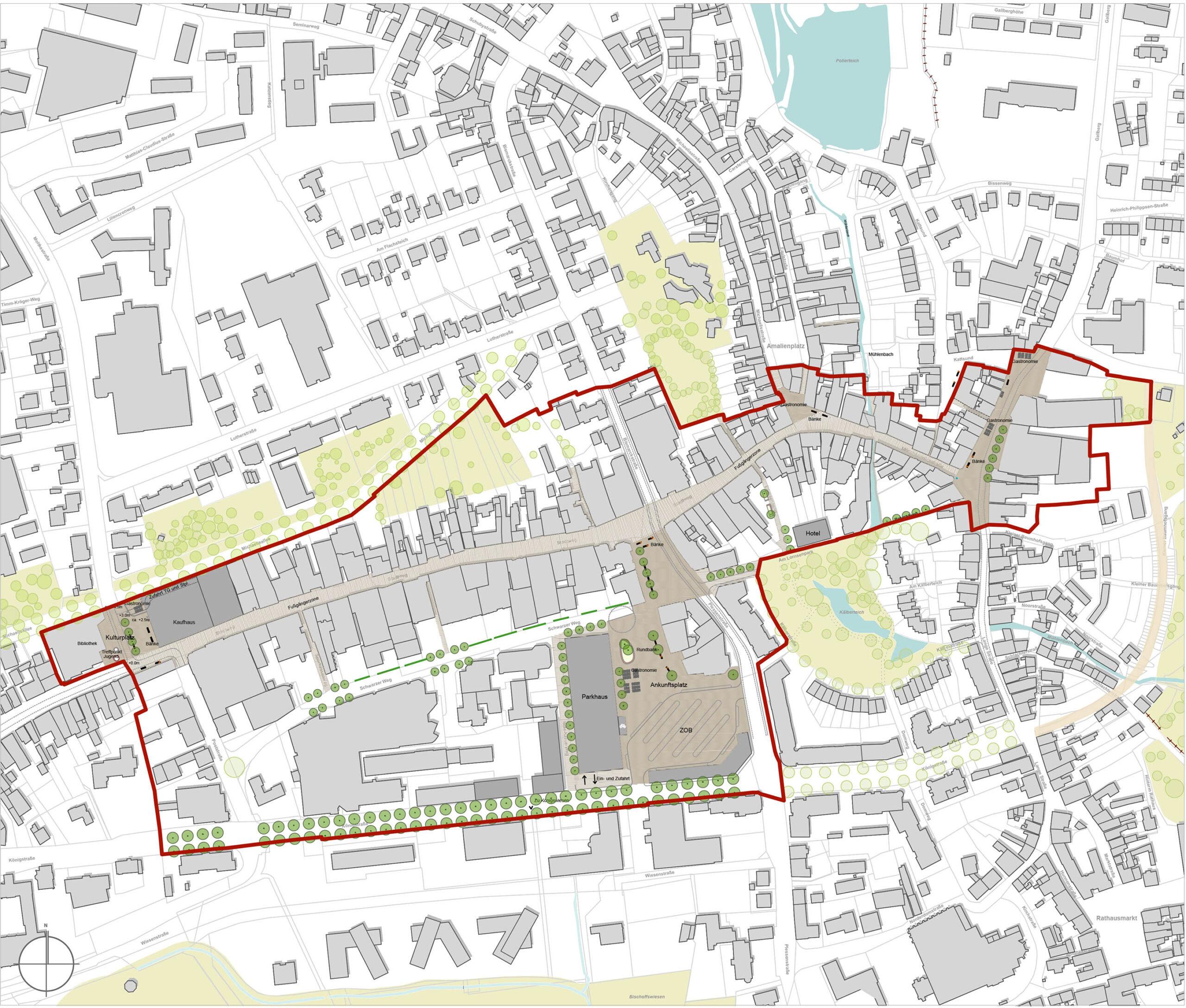 Gestaltungsplan - Rahmenplan Innenstadt, Stadt Schleswig