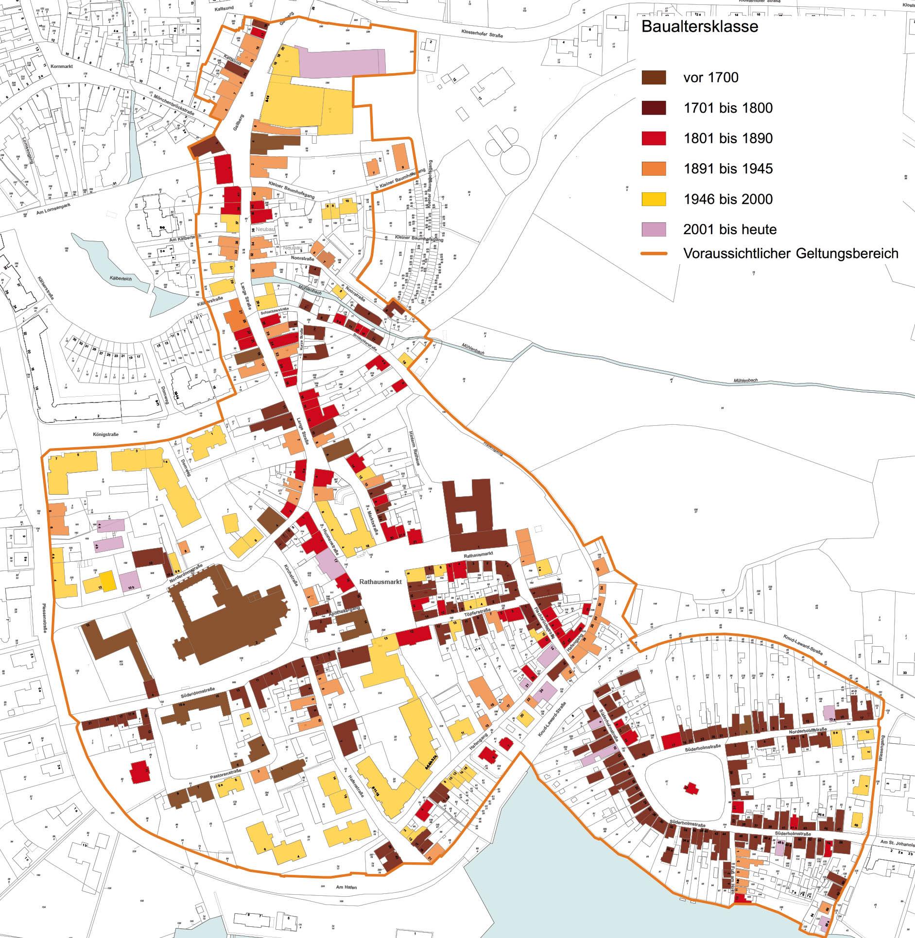 Gestaltungssatzung Altstadt Holm Schleswig - Baualtersklasse
