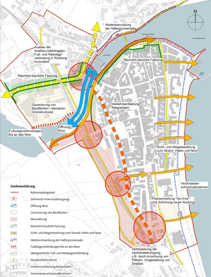 Zielplan Rahmenplan -Rahmenplanfortschreibung, Stadt Eckernförde