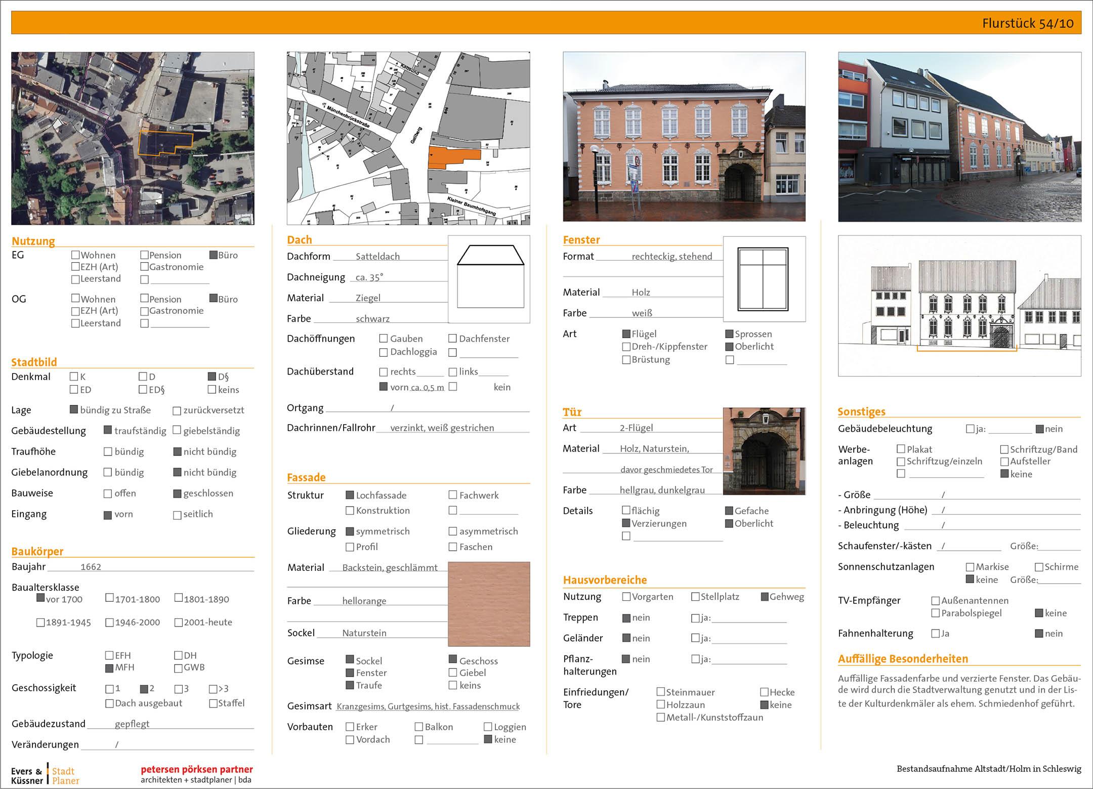 Gestaltungssatzung Altstadt Holm Schleswig Gebäudesteckbrief