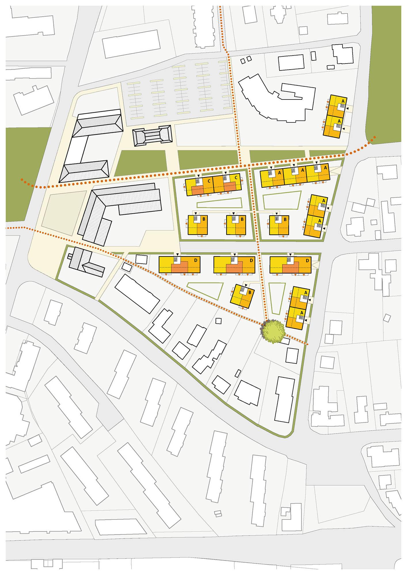 """Plan Städtebau """"Achtern Höben – Ein Anger für Wentorf"""" – Wettbewerb, Gemeinde Wentdorf"""