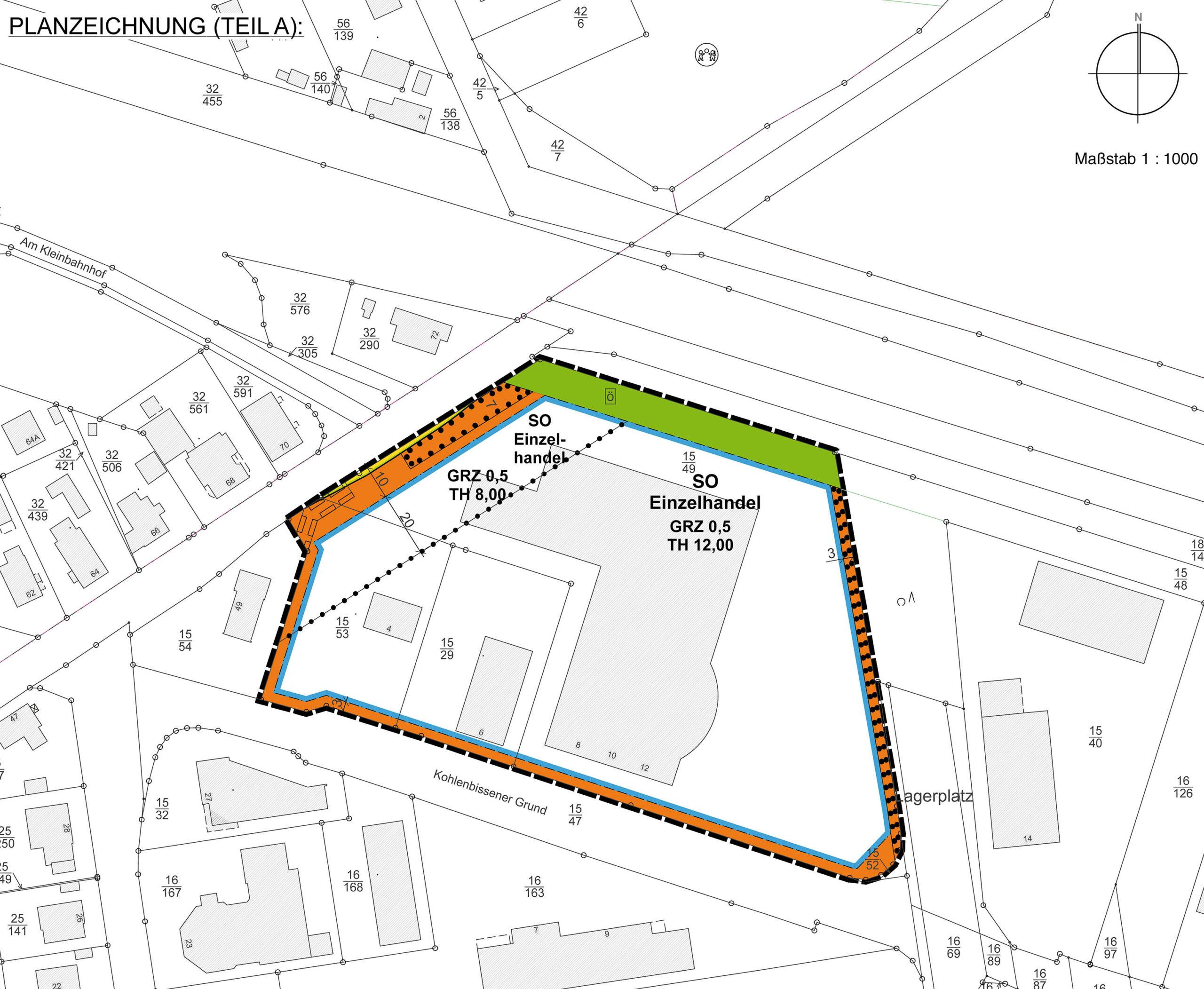 """Änderung des Bebauungsplans Nr. 24 """"Gewerbegebiet Söhlstraße"""", Stadt Munster"""