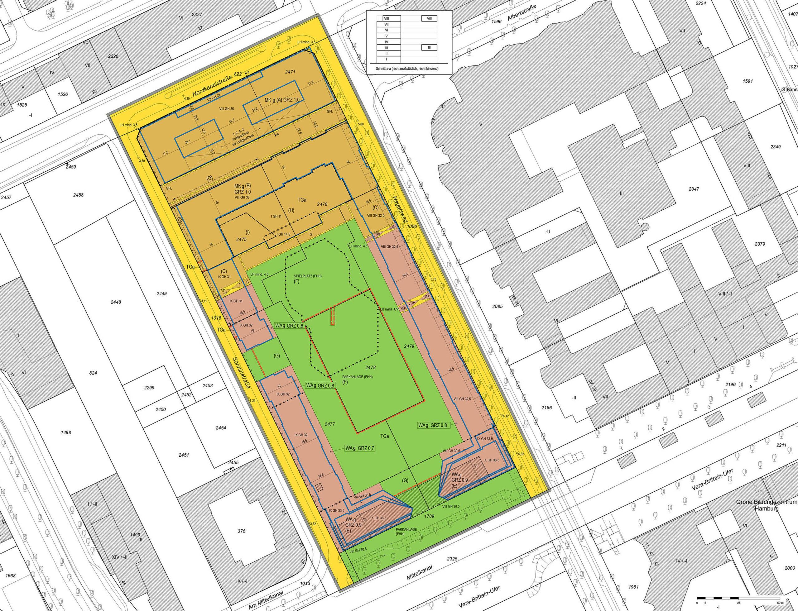 Bebauungsplan Hammerbrook 12, Sonninpark, Hamburg-Mitte