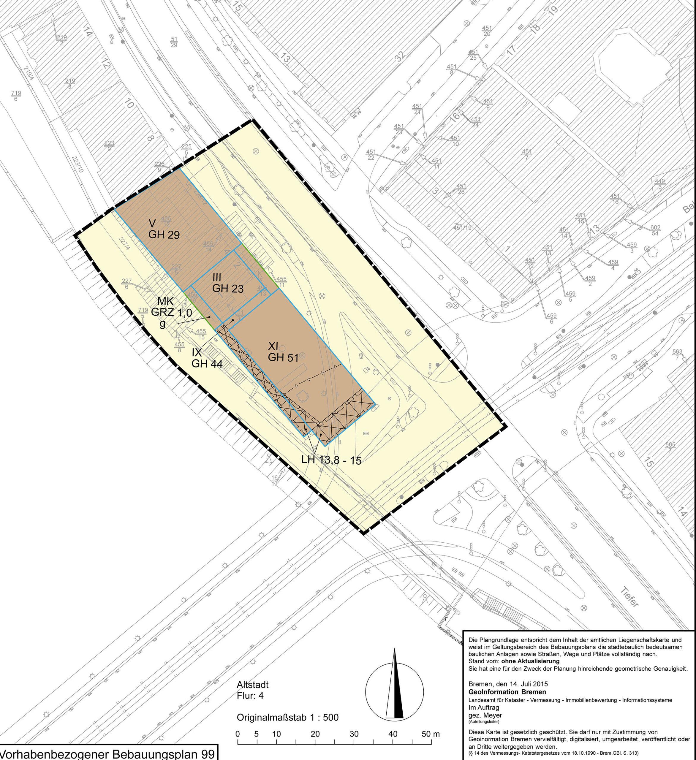 Vorhabenbezogener Bebauungsplan Bremen 99, Freie Hansestadt Bremen