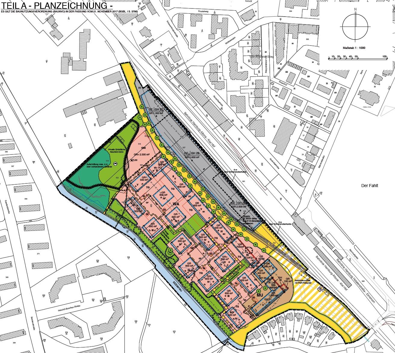 """Bebauungsplan 149 """"Mühlenauquartier"""", Stadt Pinneberg"""
