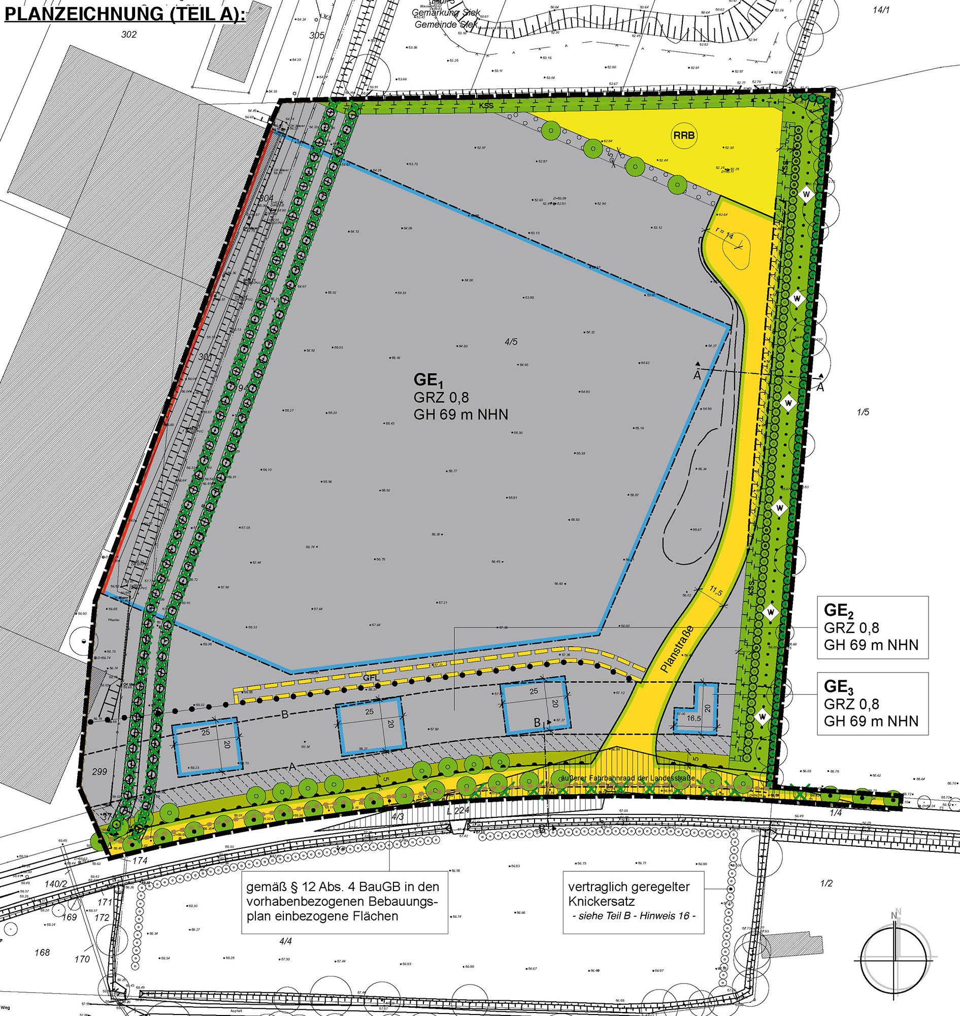 Vorhabenbezogener Bebauungsplan Nr. 22 und 27. FNP-Änderung, Gemeinde Siek