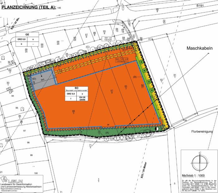 Entwurf Bebauungsplan Dannenberg Pörmke Nord